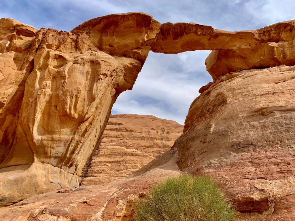 Natural bridge in Wadi Rum
