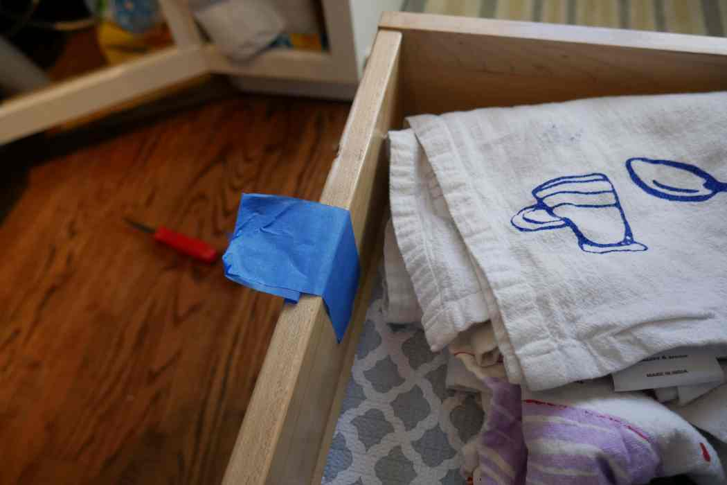 painters tape drawer pulls