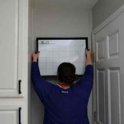 hanging calendar for command center