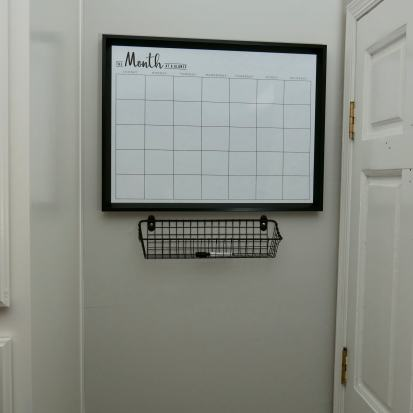 basket and calendar for command center