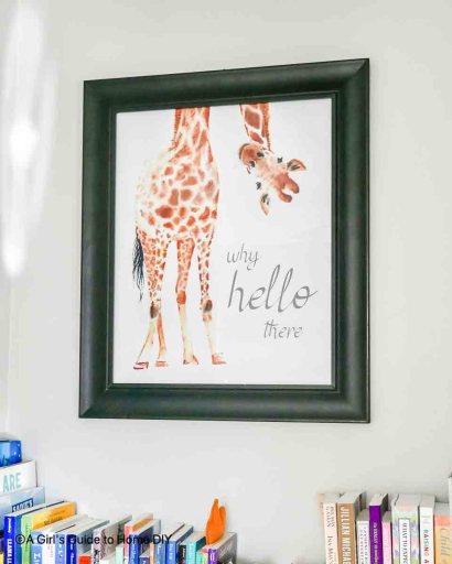 giraffe wall print