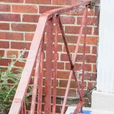 porch railings primed