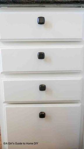 newly installed cabinet hardware