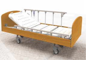 wooden home care bed