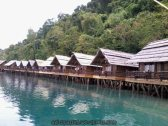 Stilt huts at Pearl Farm