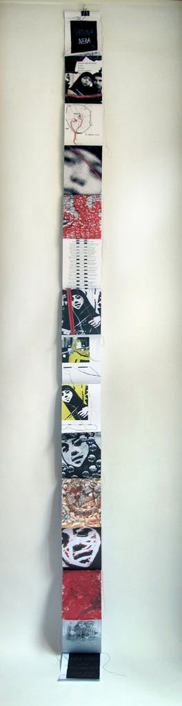 """FANZINE CACTYOU! """"BLACK WIDOW"""" / Fanzine to browse or to hang on the wall / 315x15 cm / 2011"""