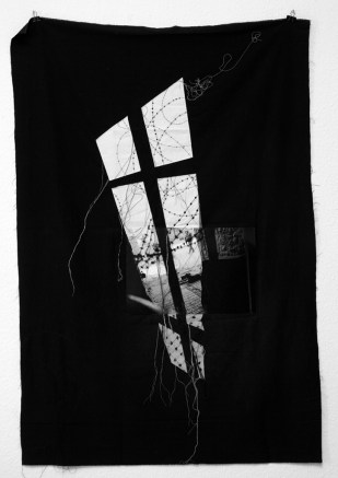 Serie PALESTINE / HEBRON / photography sewing on fabric / 153x105 cm / 2008