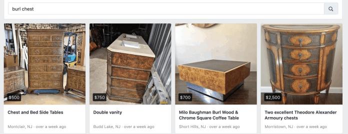 burl search Facebook marketplace