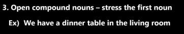 Open compound nouns