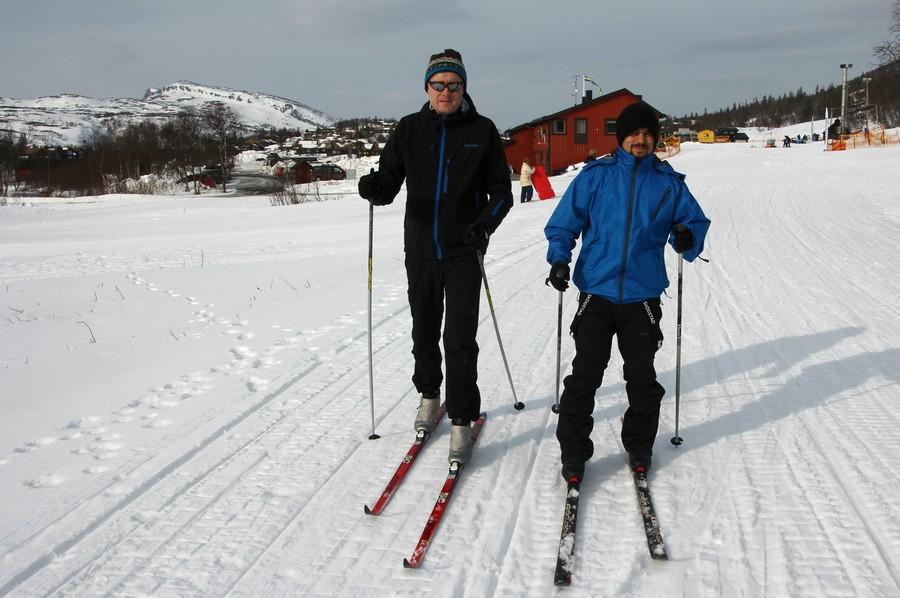 Vi dro til Sverige og fant snø!