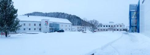 Snø gjør Aglo vakker