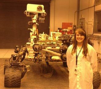 Marie McBride as a NASA intern at the Jet Propulsion Laboratory in Pasadena, CA