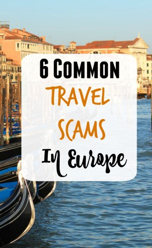 travel scams Europe