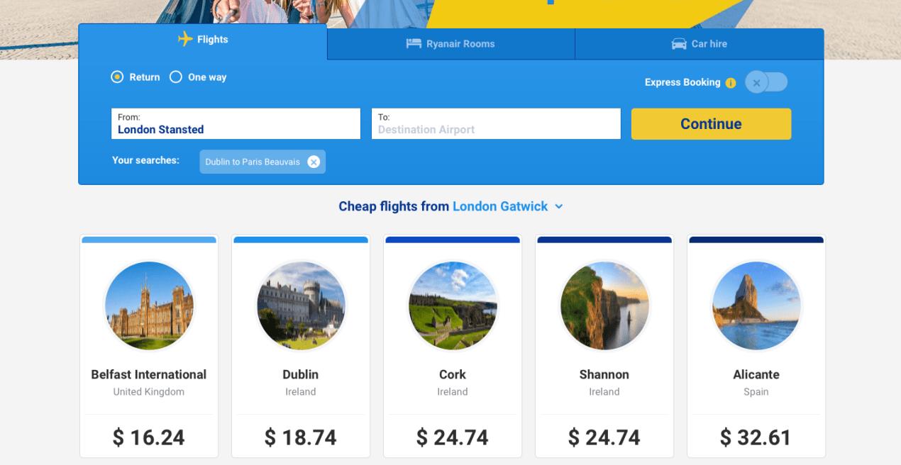 ryanair european budget airlines