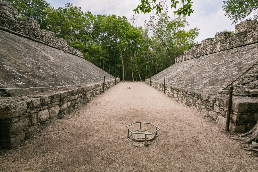 Mayan Basketball Court Mexico