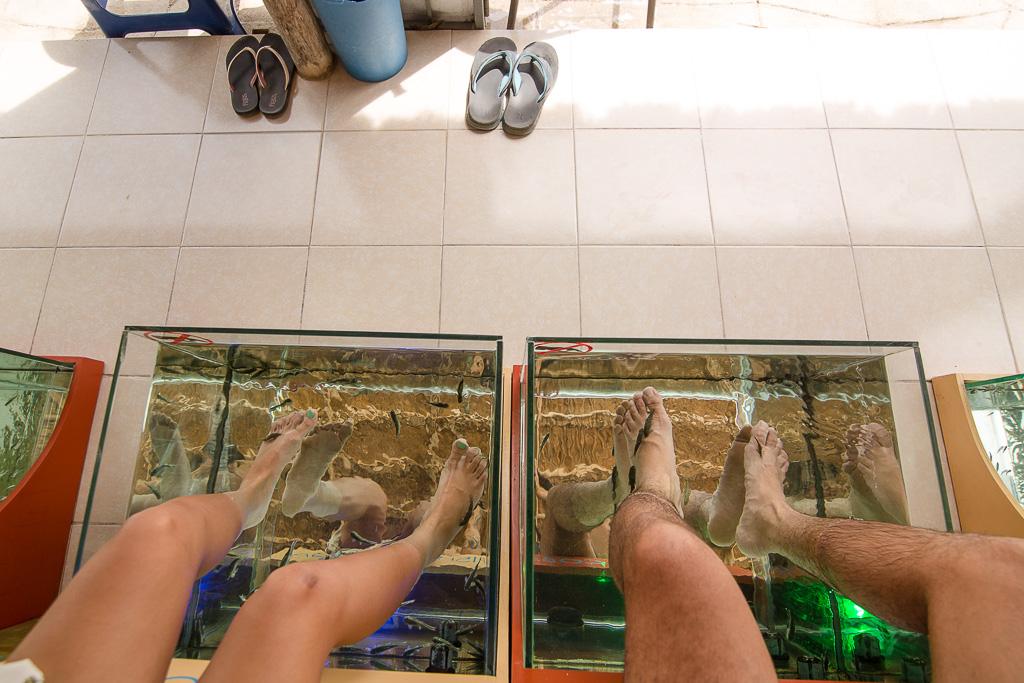 fish spa coba ruins mexico