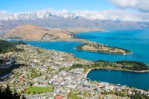 Views of Lake Wakatipu from the Skyline Gondola, Queenstown, New Zealand