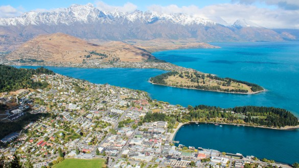 Views of Lake Wakatipu from the Skyline Gondola, Queenstown, New Zealand
