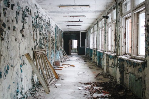 Eerie winter images of Prypyat and Chernobyl