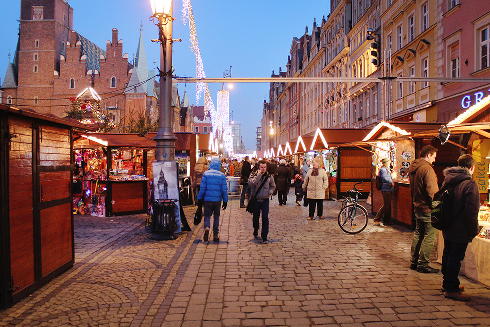 Christmas markets in Wroclaw, Poland