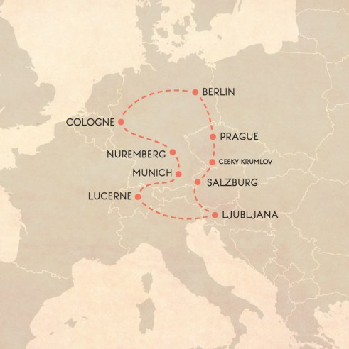 Central Europe Spring Itinerary Map