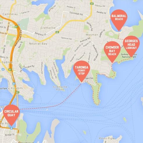 Coastal Walk Map