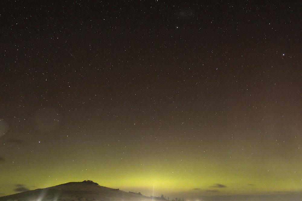 Aurora over Hobart, Tasmania