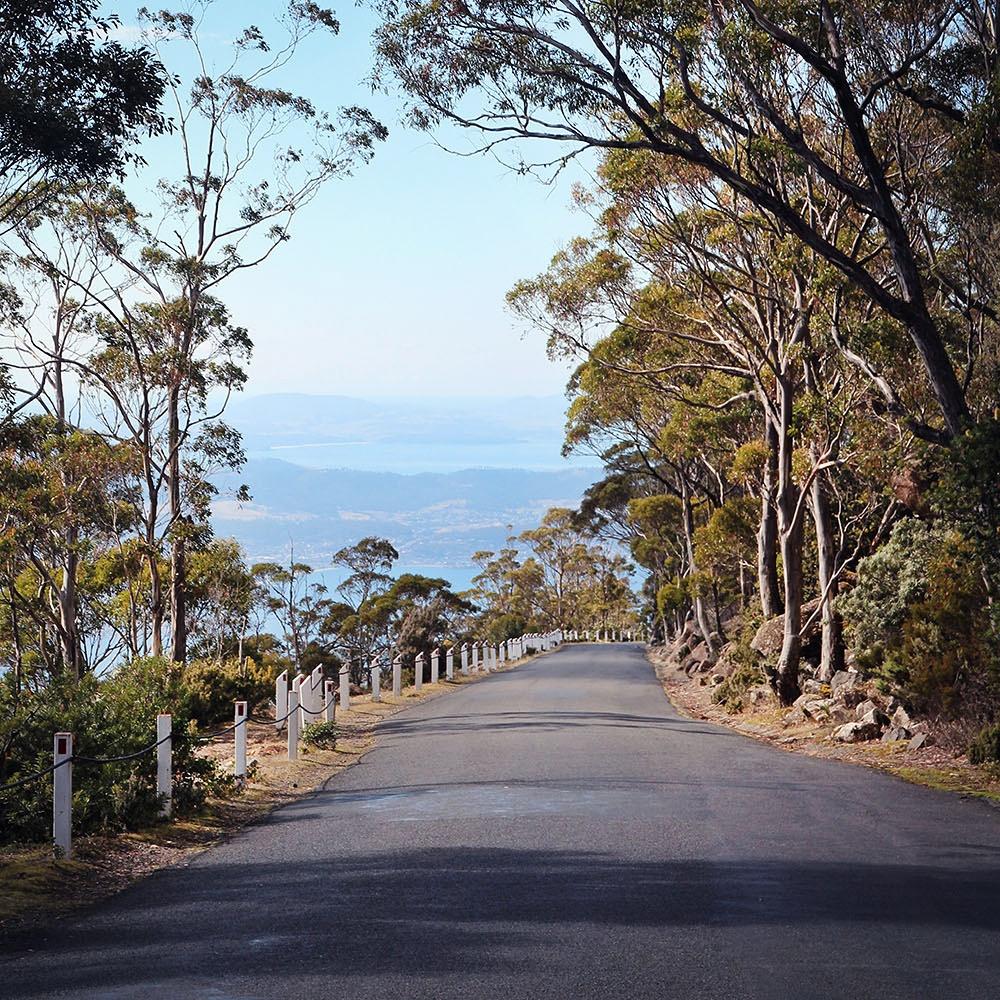 Road to Mt Wellington, Hobart, Tasmania