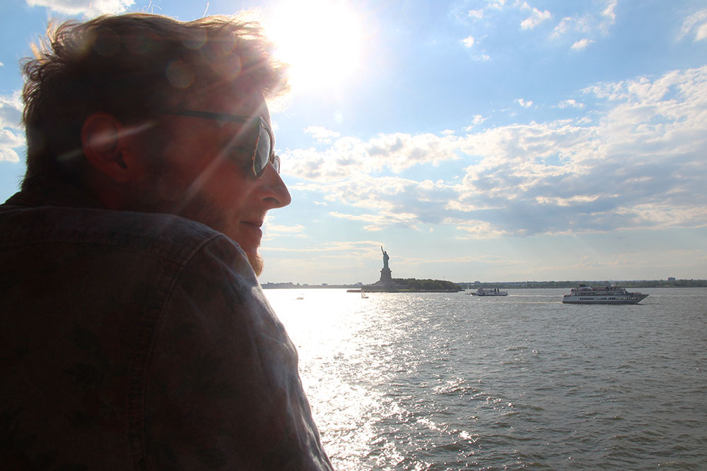 Statue of Liberty from the Staten Island Ferry in NYC