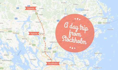 A day trip from Stockholm map