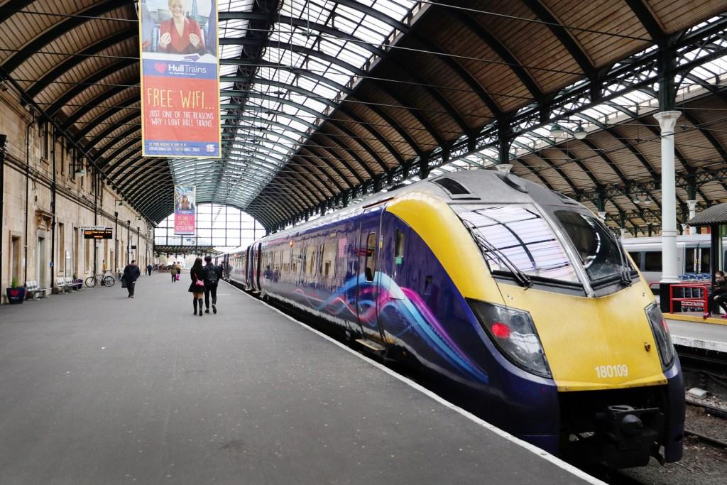 Hull train station, UK