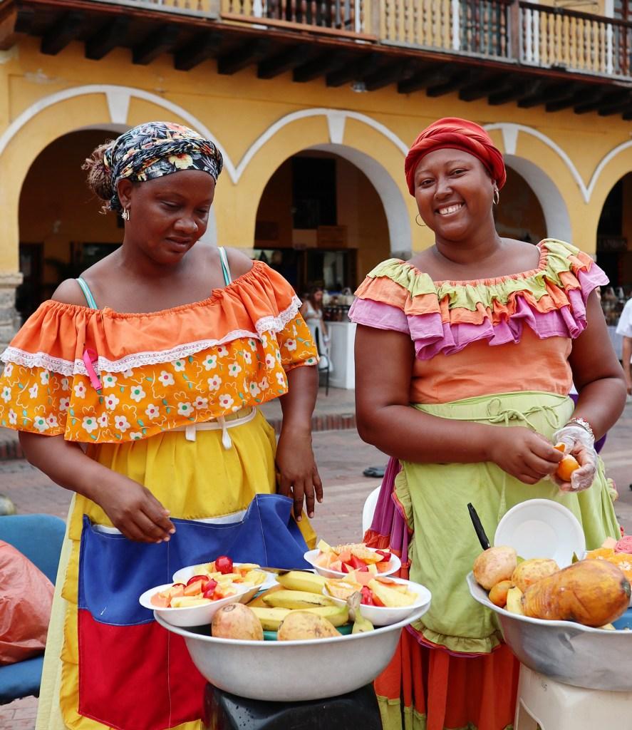 Fruit ladies (Palenqueras), Cartagena