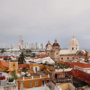 Cartagena city skyline, Colombia