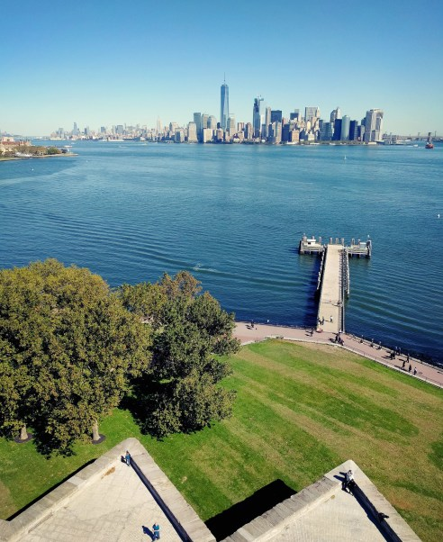 Views of Manhattan from Liberty Island, NYC