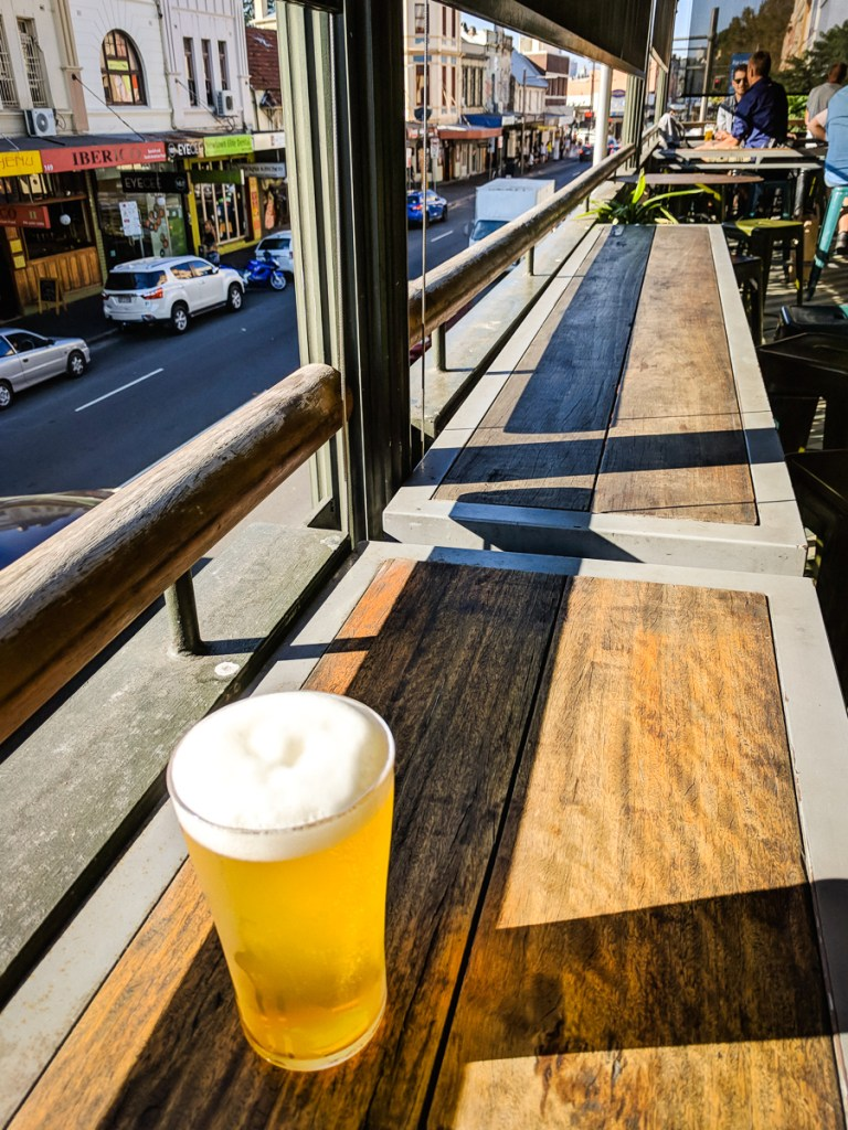 Craft beer from the Newtown Hotel, Sydney