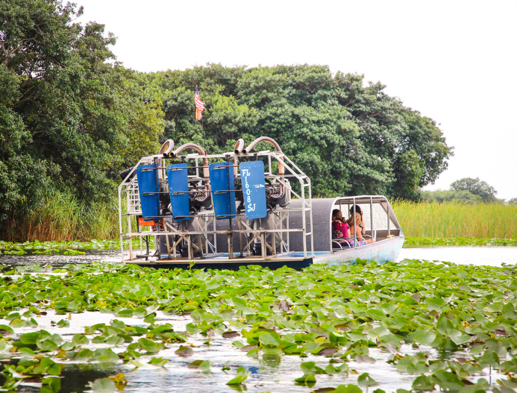 Airboat in Everglades National Park, Florida