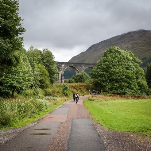 Walking trail to Glenfinnan Viaduct
