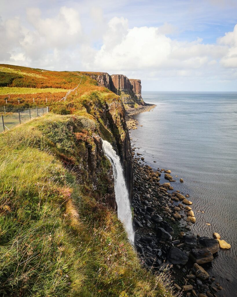 Kilt Rock and Mealt Falls viewpoint, Isle of Skye, Scotland
