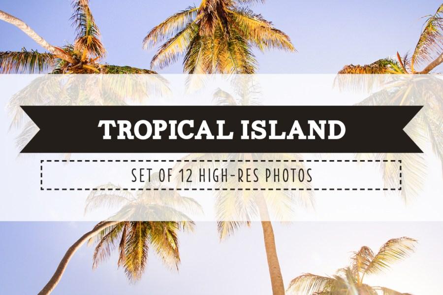 Tropical Island Photo Pack