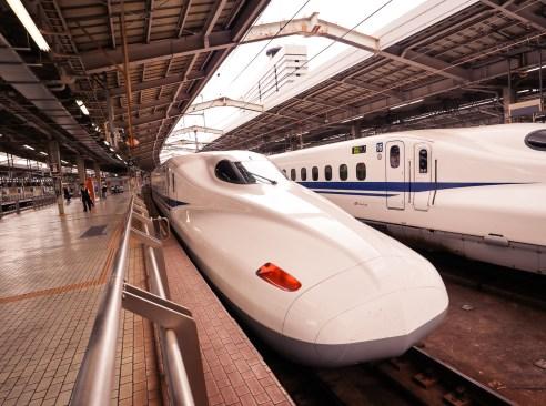 Shinkansen bullet train, Japan