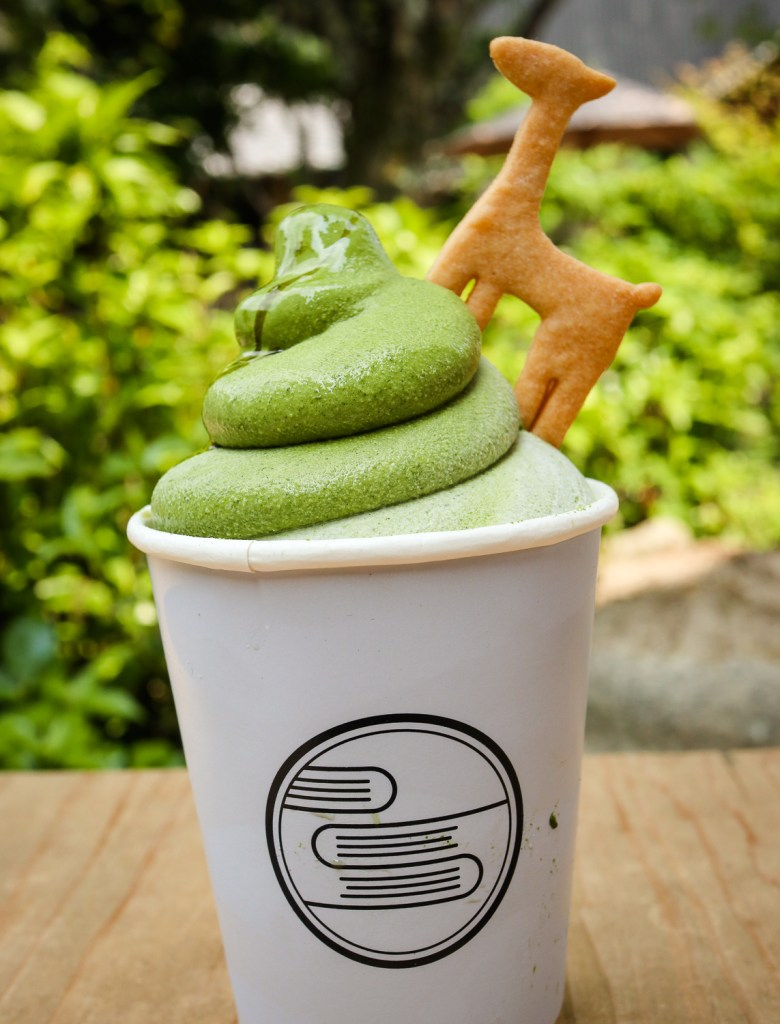 Matcha flavoured soft serve, Nara, Japan