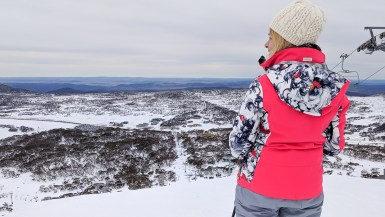 Skiing at Perisher, NSW, Australia