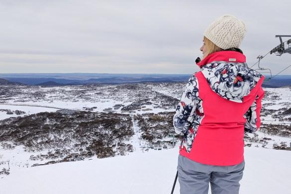 Skiing at Perisher, NSW, Australia