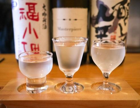 Sake tasting, Kyoto Japan