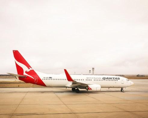 Qantas plane on tarmac