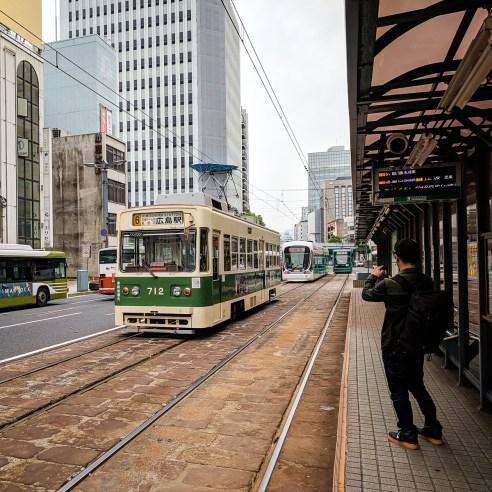 Tram in Hiroshima, Japan
