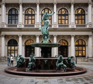 Interior courtyard of the Hamburger Rathaus