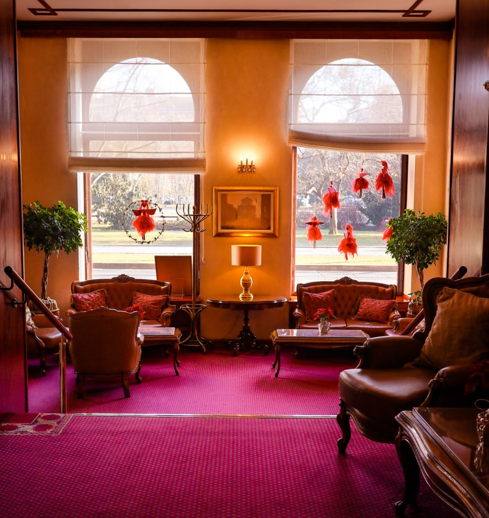 The lobby of Palace Hotel in Zagreb, Croatia