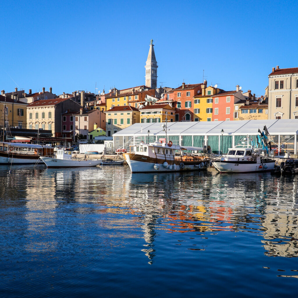 The old town of Rovinj on Croatia's Adriatic coast
