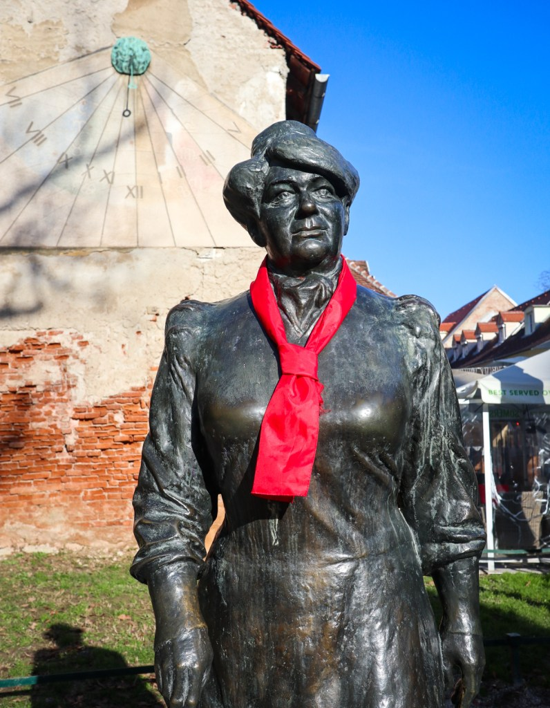 Marija Jurić Zagorka statue in Zagreb, Croatia
